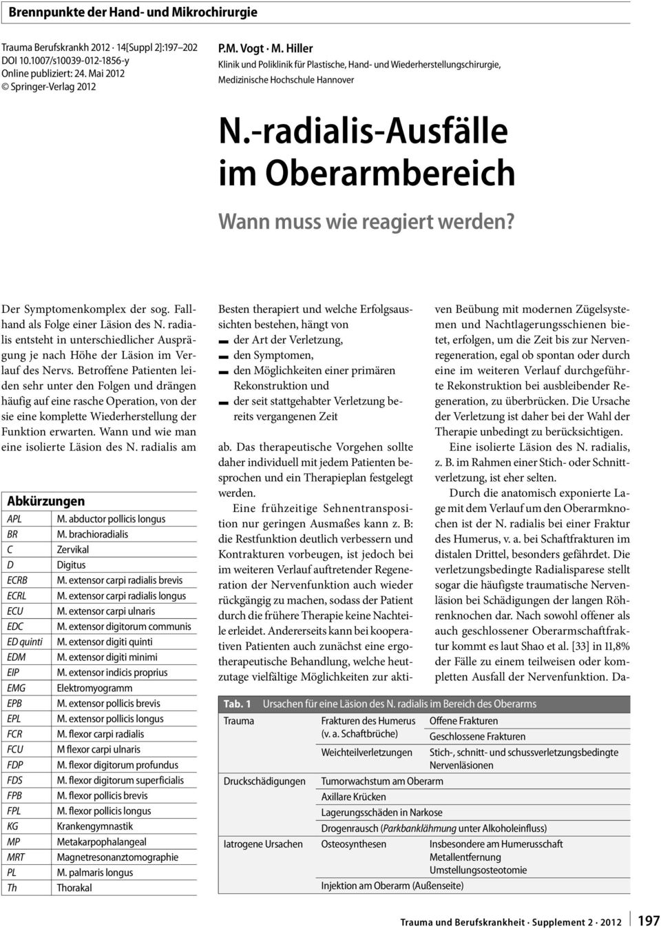 N.-radialis-Ausfälle im Oberarmbereich - PDF