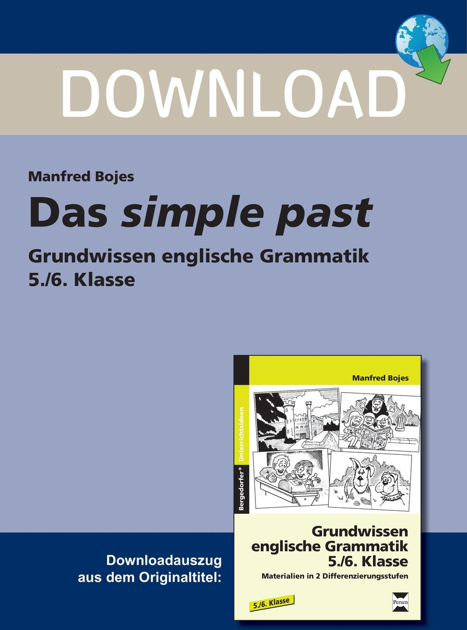 DOWNLOAD. Das simple past. Grundwissen englische Grammatik 5./6 ...