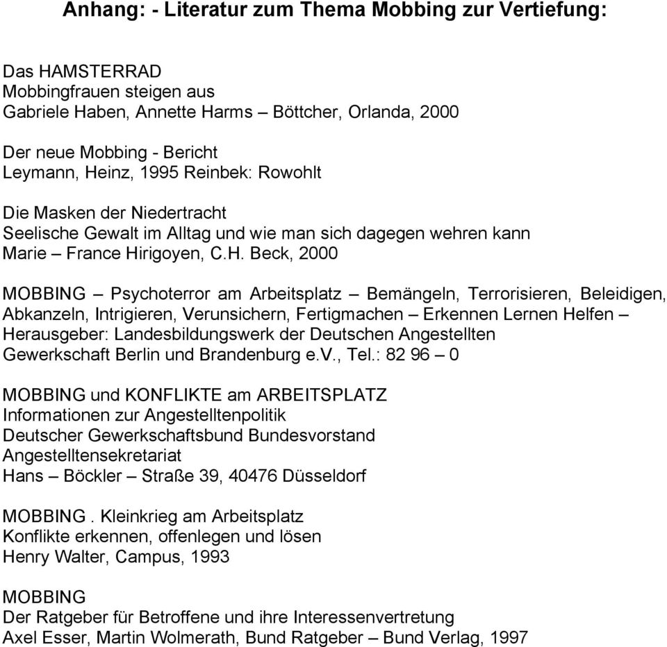 Mobbing Am Arbeitsplatz Pdf Free Download