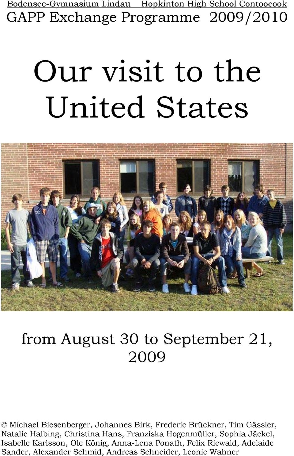 Our Visit To The United States Pdf