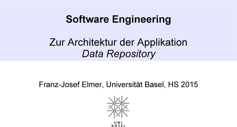 Data Repository Franz-Josef