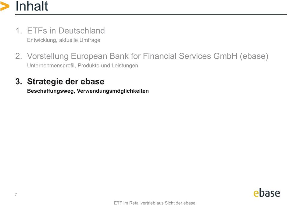 Vorstellung European Bank for Financial Services GmbH