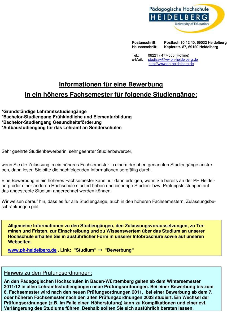 Bewerbung Ins Hohere Fachsemester Youtube