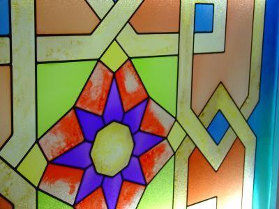 Authentic Art Nouveau Stained Glass Designs in Full Colo...BuchZustand gut
