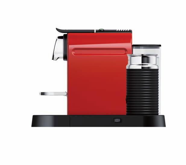 the use of nespresso capsules ensures easy handling of the appliance